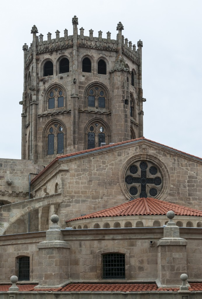 Tower and Apse of Ourense Cathedral (Spain)